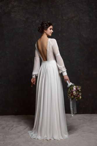 Clara vintage inspired wedding dress, long sleeves